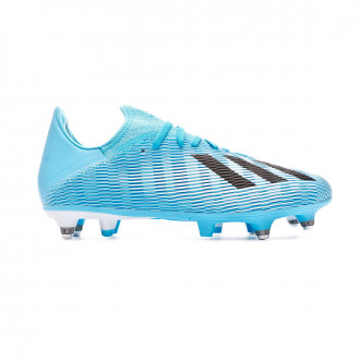 Chaussure de foot adidas X 19.3 SG Bright cyan-Core black-Shock pink