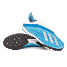 Chaussure de football X 19.3 LL Turf Bright cyan-Silver metallic-Shock pink