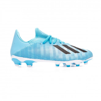 Chuteira adidas X 19.3 MG Bright cyan-Core black-Shock pink