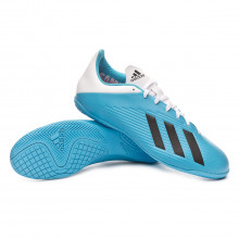 Sapatilha de Futsal X 19.4 IN Bright cyan-Core black-Shock pink