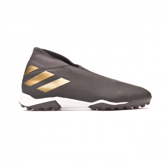 Football Boot  adidas Nemeziz 19.3 Laceless Turf Core black-Gold metallic-Utility black