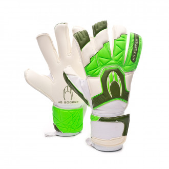 Guante  HO Soccer Guerrero Pro Hybrid Roll/Negative Green spark