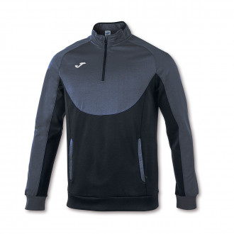 Sweat Joma Essential 1/2 Fermeture Anthracite-Noir