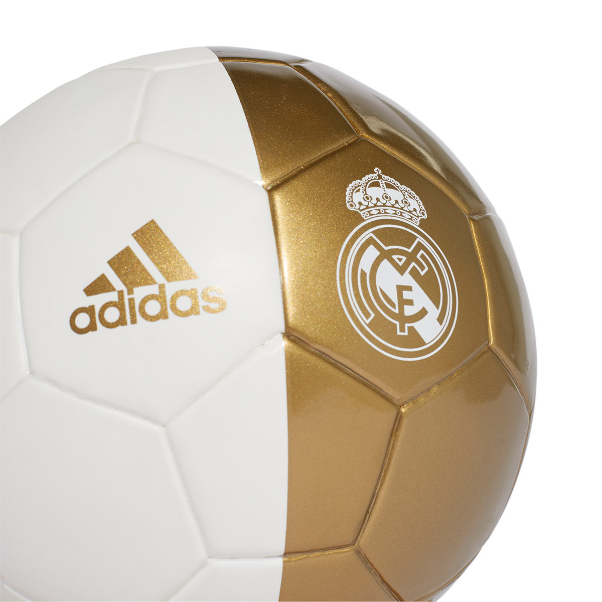 top fashion f1d1e e36ca Balón Mini Real Madrid 2019-2020 White-Dark football gold
