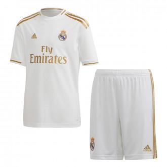 Conjunto  adidas Real Madrid Primera Equipación 2019-2020 Niño White