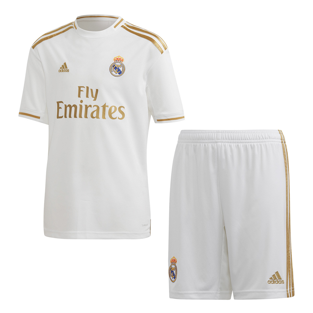 new products b9d30 f6457 Conjunto Real Madrid Primera Equipación 2019-2020 Niño White