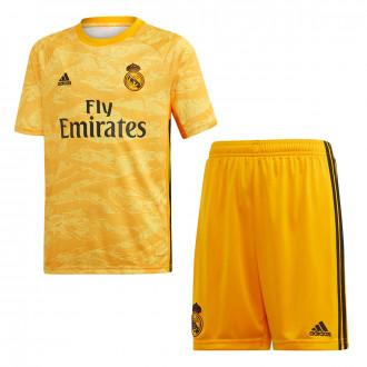 Conjunto  adidas Real Madrid Portero Primera Equipación 2019-2020 Niño Collegiate gold