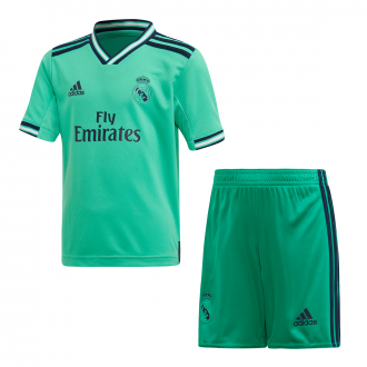 Conjunto adidas Real Madrid Equipamento Alternativo 2019-2020 Criança HI-Res green