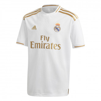 Camisola  adidas Real Madrid Equipamento Principal 2019-2020 Niño White