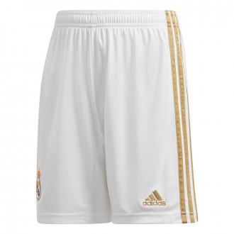 Pantaloncini  adidas Real Madrid Primera Equipación 2019-2020 Niño White