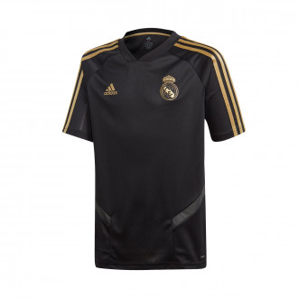 Maillot  adidas Real Madrid Training 2019-2020 enfant Black-Dark football gold