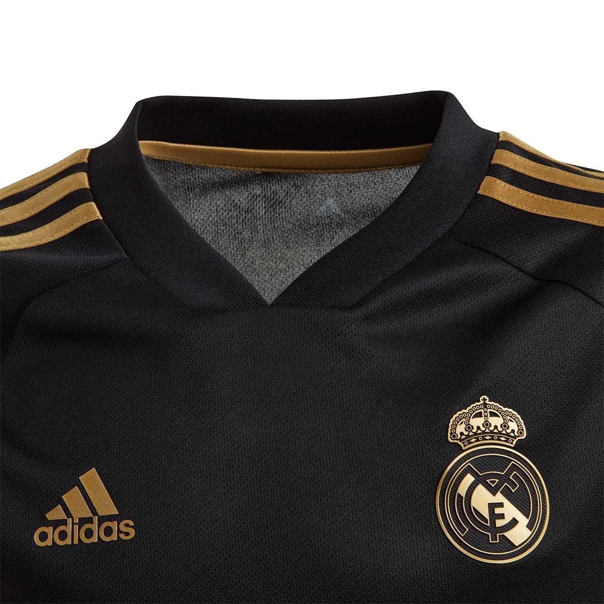 buy online dcb26 cc15e Camiseta Real Madrid Training 2019-2020 Niño Black-Dark football gold