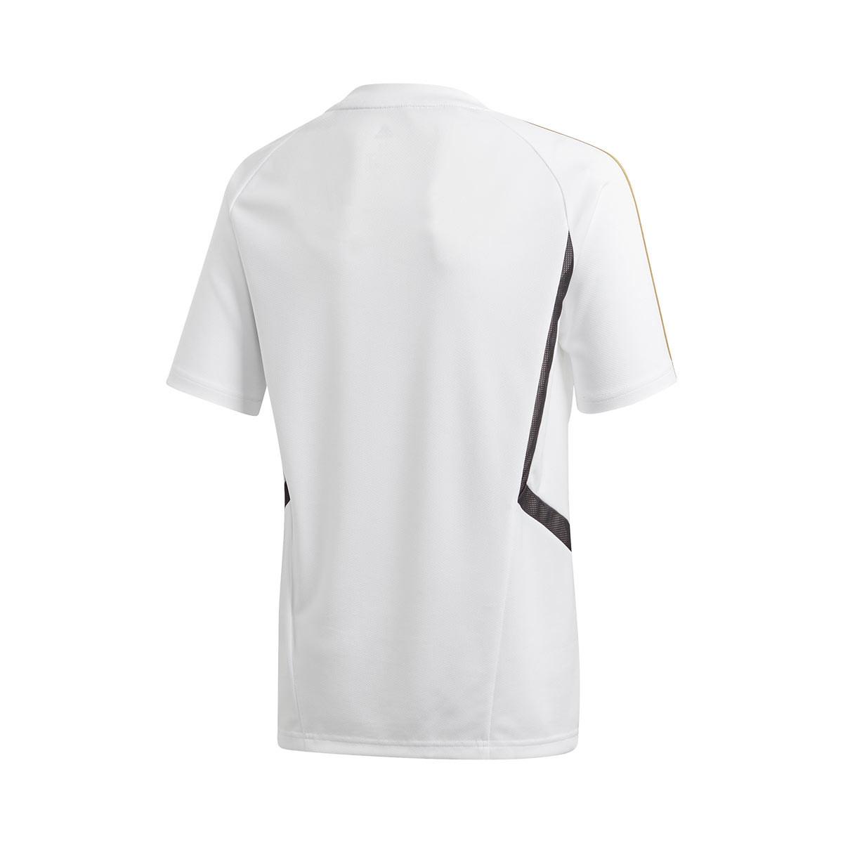 new concept 62be7 d0e82 Camiseta Real Madrid Training 2019-2020 Niño White-Dark football gold