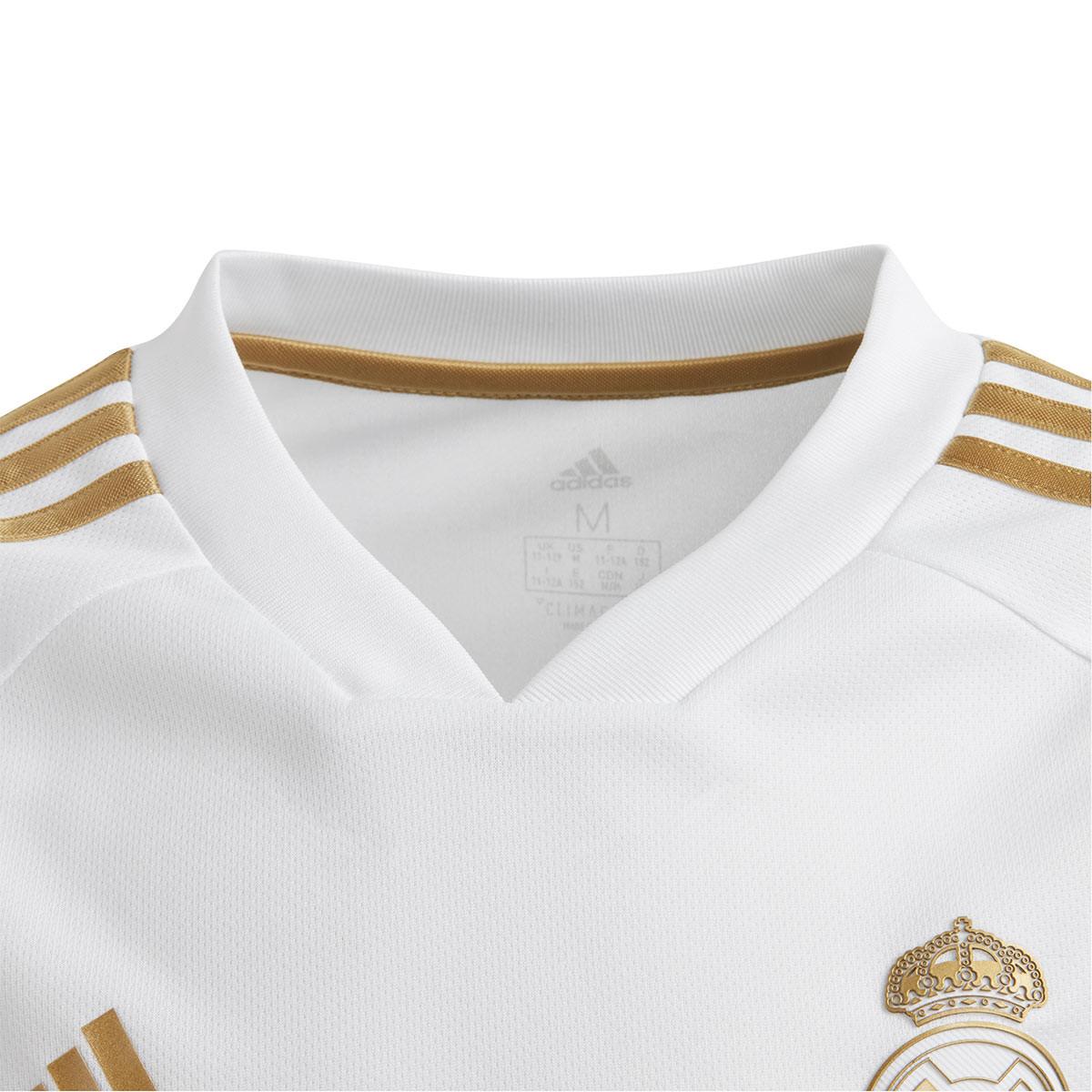 6b452c3ac63 Jersey adidas Kids Real Madrid Training 2019-2020 White-Dark football gold  - Football store Fútbol Emotion