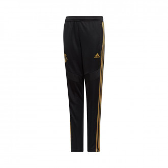 Long pants   adidas Real Madrid Training 2019-2020 Niño Black-Dark football gold