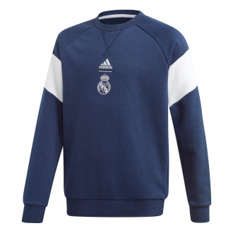Sweatshirt  adidas Real Madrid Crest Sweat 2019-2020 Niño Night indigo-White