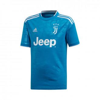 Maglia adidas Juventus Terzo completo 2019-2020 Bambino Unity blue-Aero blue