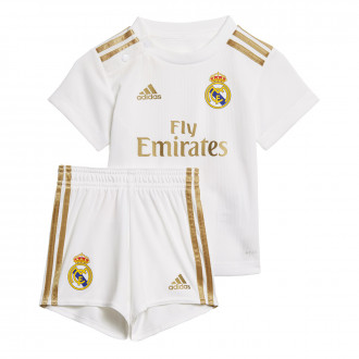 Conjunto  adidas Real Madrid Primera Equipación 2019-2020 Bebé White