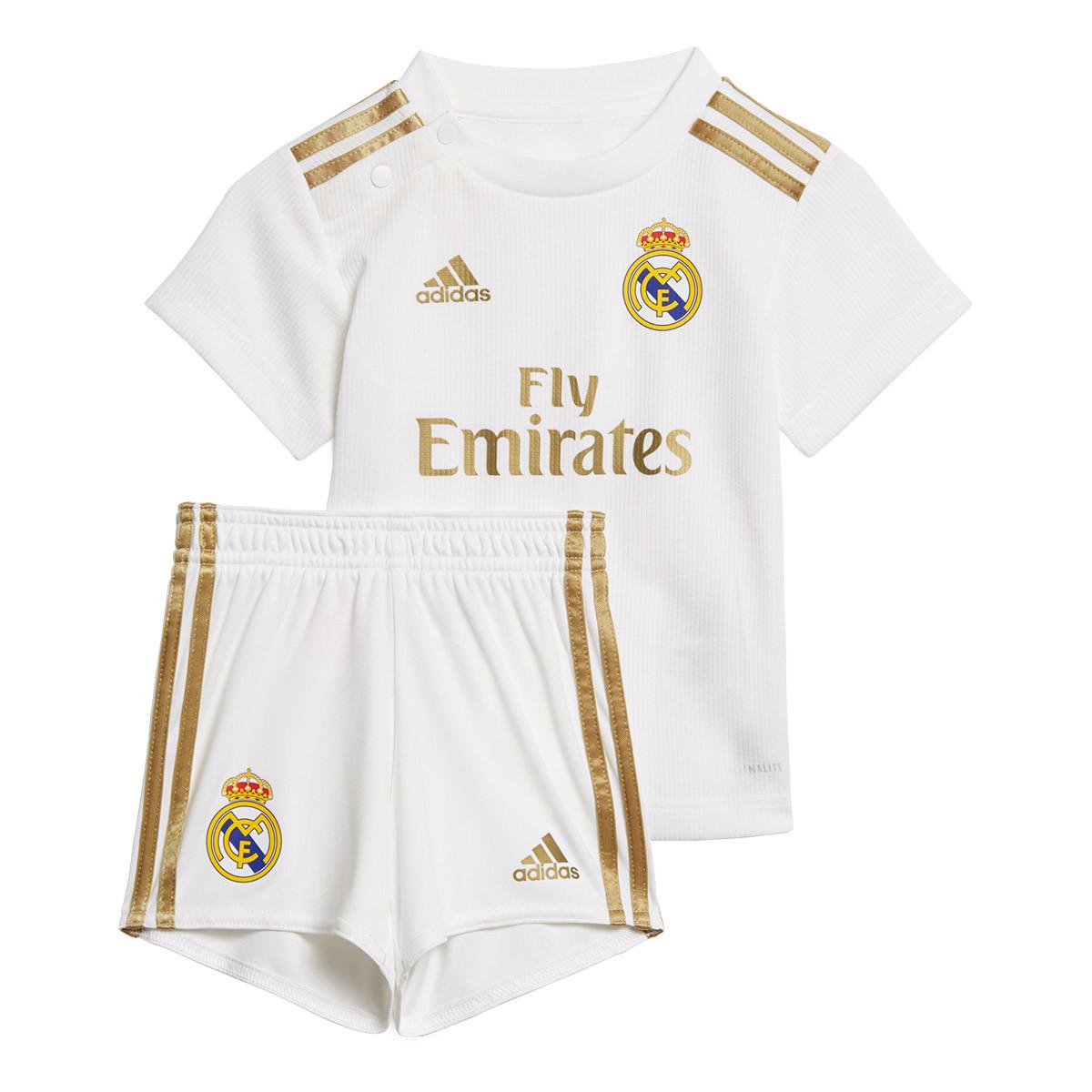 350b2e50b0 Conjunto adidas Real Madrid Primera Equipación 2019-2020 Bebé White -  Tienda de fútbol Fútbol Emotion