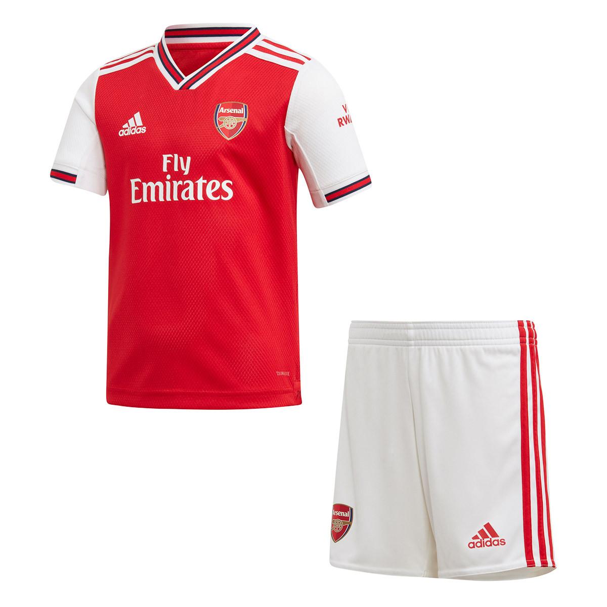 deb6692c0 Kit adidas Arsenal FC Primera Equipación 2019-2020 Niño Scarlet ...