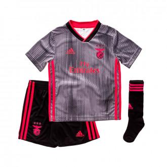 Conjunto adidas Benfica SL Segunda Equipación 2019-2020 Niño Black-Grey