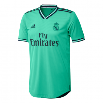 Playera adidas Real Madrid Tercera Equipación Authentic 2019-2020 HI-Re green-Night indigo