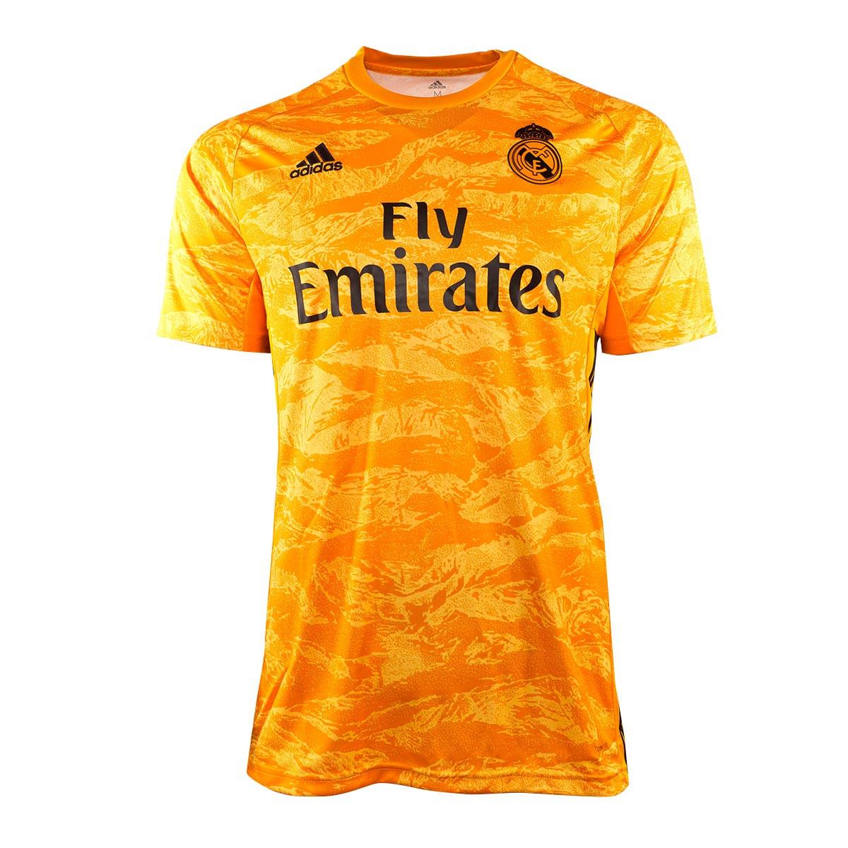 Camiseta Adidas Real Madrid Portero Primera Equipacion 2019 2020 Collegiate Gold Tienda De Futbol Futbol Emotion