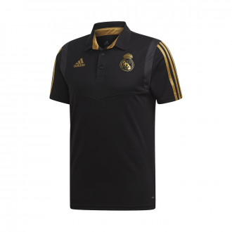 Polo shirt  adidas Real Madrid 2019-2020 Black-Dark football gold
