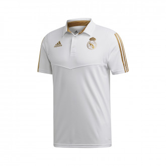 Polo shirt  adidas Real Madrid 2019-2020 White-Dark football gold