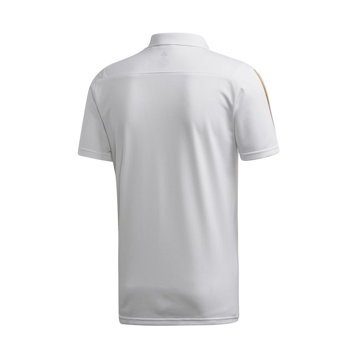 newest c00b6 9149b Polo Real Madrid 2019-2020 White-Dark football gold
