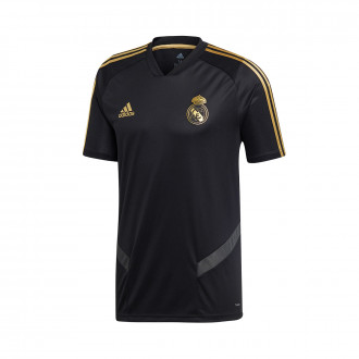 Maillot  adidas Real Madrid Training 2019-2020 Black-Dark football gold