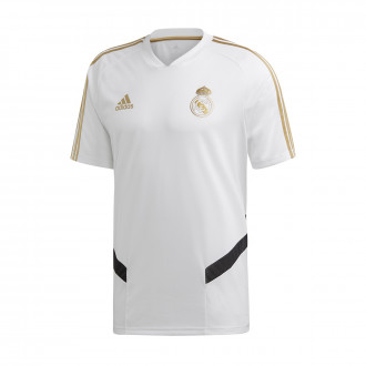 Playera adidas Real Madrid Training 2019-2020 White-Dark football gold