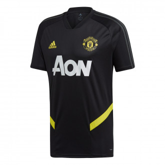 Camisola  adidas Manchester United FC Training 2019-2020 Black-Solid grey