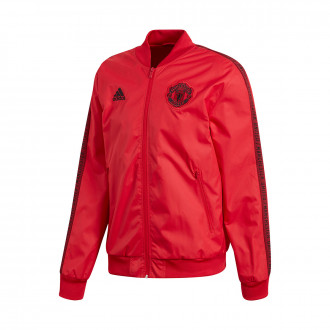 Veste  adidas Manchester United FC Anthem 2019-2020 Real red-Black