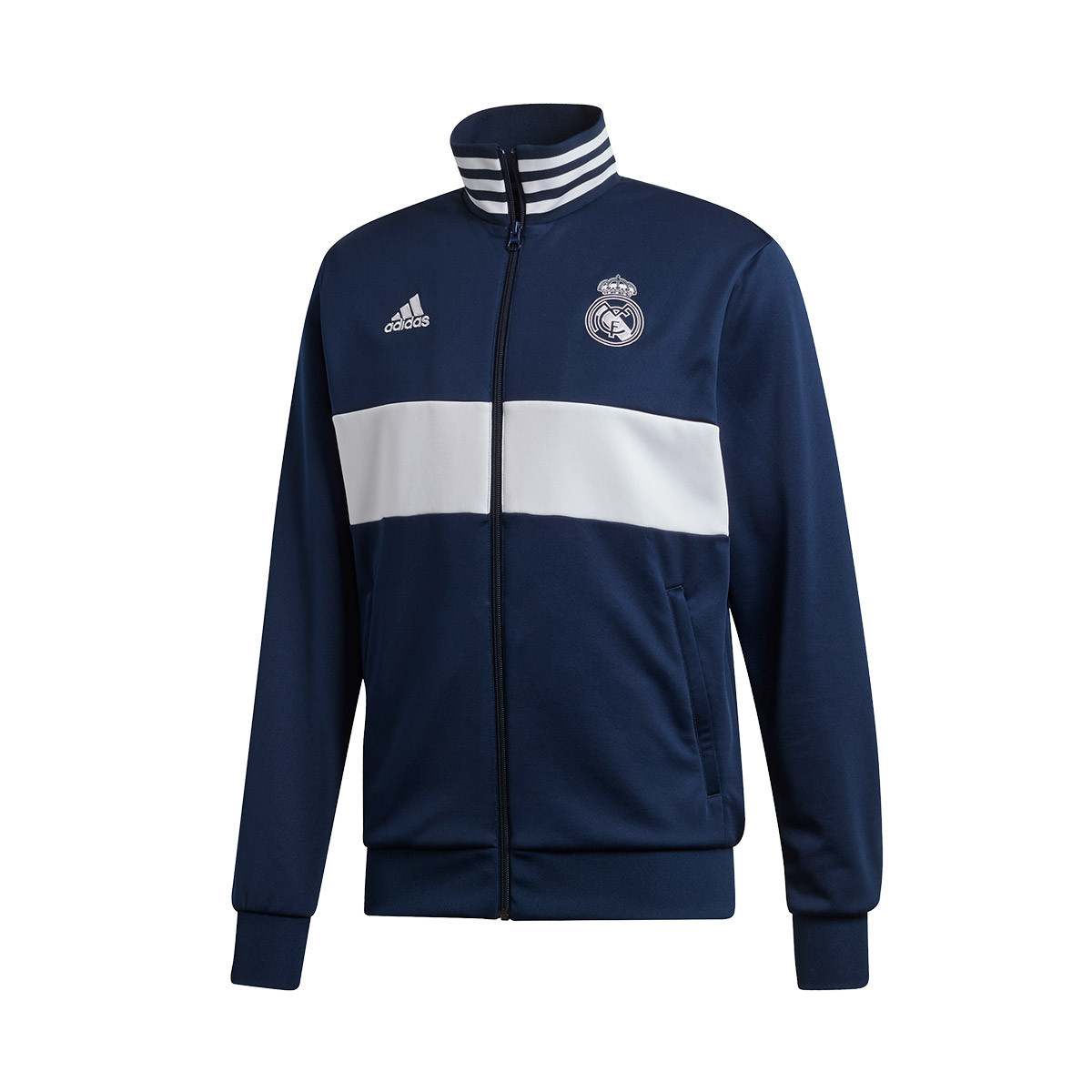 Helecho Mancha Gastos  Chaqueta adidas Real Madrid 3 Stripes 2019-2020 Night indigo-White - Tienda  de fútbol Fútbol Emotion