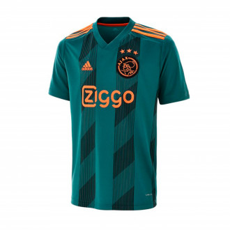 Camiseta  adidas Ajax FC Segunda Equipación 2019-2020 Tech green-Black-Semi solar orange