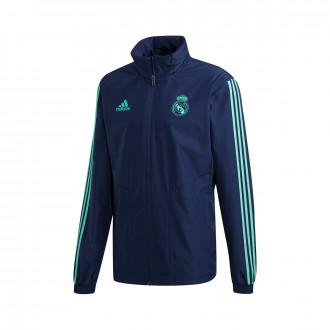 Veste adidas Real Madrid EU AW 2019-2020 Night indigo-HI-Res green