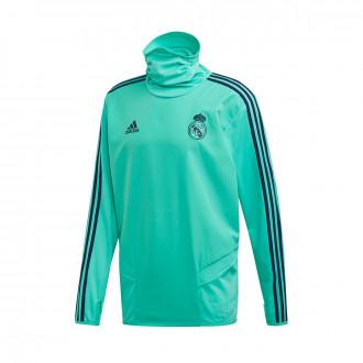 Felpa adidas Real Madrid Warm 2019-2020 HI-Re green-Night indigo