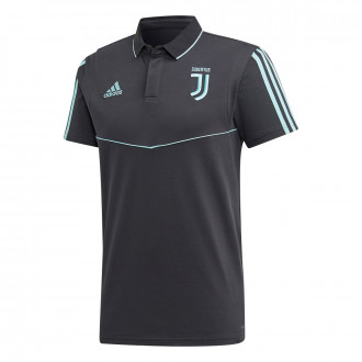 Polo adidas Juventus EU 2019-2020 dark grey-Energy aqua