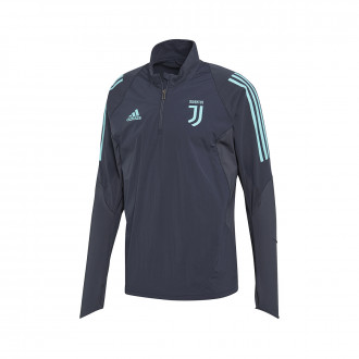 Sweatshirt adidas Juventus EU Training 2019-2020 dark grey-Energy aqua