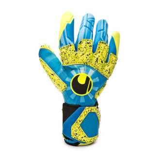 Glove  Uhlsport Radar Control Supergrip Reflex Radar blue-Flour yellow-Black