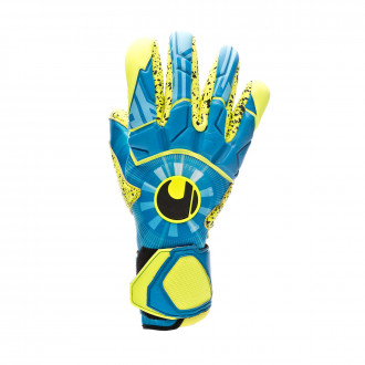 Glove  Uhlsport Radar Control Supergrip Finger Surround Radar blue-Flour yellow-Black