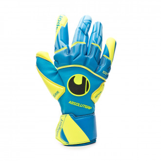 Glove  Uhlsport Radar Control Absolutgrip Reflex Radar blue-Flour yellow-Black