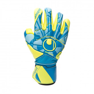 Glove  Uhlsport Radar Control Absolutgrip Finger Surround Radar blue-Flour yellow-Black