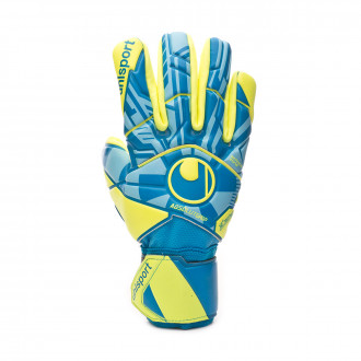 Glove  Uhlsport Radar Control Absolutgrip HN Radar blue-Flour yellow-Black
