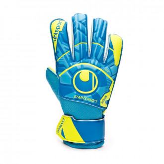 Glove  Uhlsport Radar Control Starter Soft Niño Radar blue-Flour yellow-Black