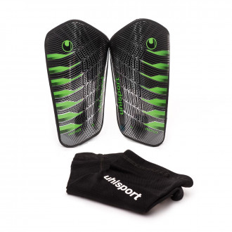 Shinpads  Uhlsport Pro flex Black-Fluor green-Silver