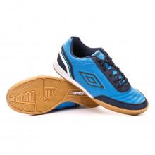 Futsal Boot Street V Ibiza blue-Dark navy-White