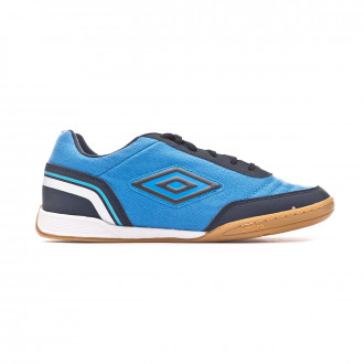 Chaussure de futsal Umbro Street V Ibiza blue-Dark navy-White