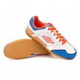 Zapatilla Sala II Liga White-Tangerine tango-Regal blue
